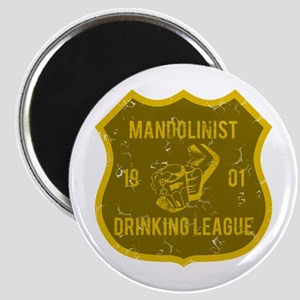 Mandolinist Drinking League Magnet