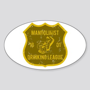 Mandolinist Drinking League Oval Sticker