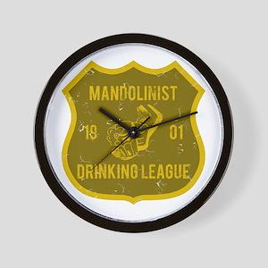 Mandolinist Drinking League Wall Clock