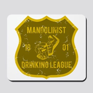 Mandolinist Drinking League Mousepad