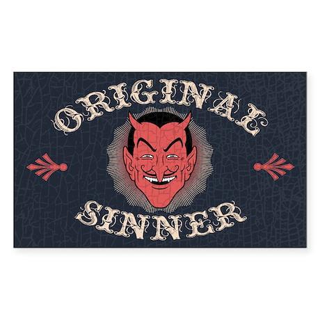 Original Sinner Rectangle Sticker