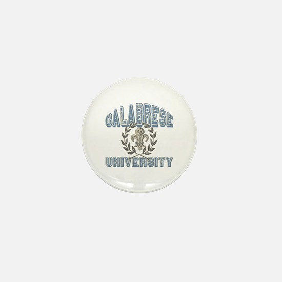 Calabrese Last Name University Mini Button