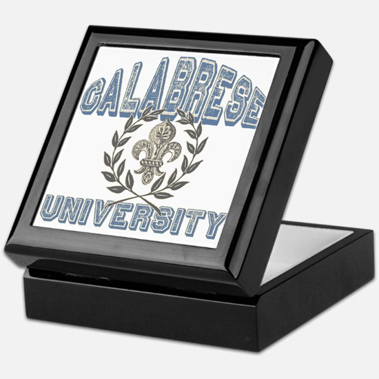 Calabrese Last Name University Keepsake Box