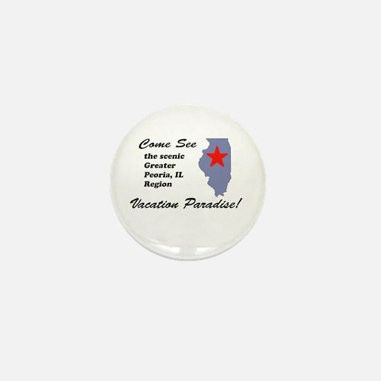 Come See Peoria, IL Mini Button