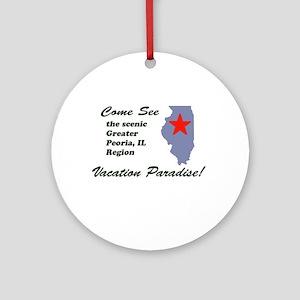 Come See Peoria, IL Ornament (Round)