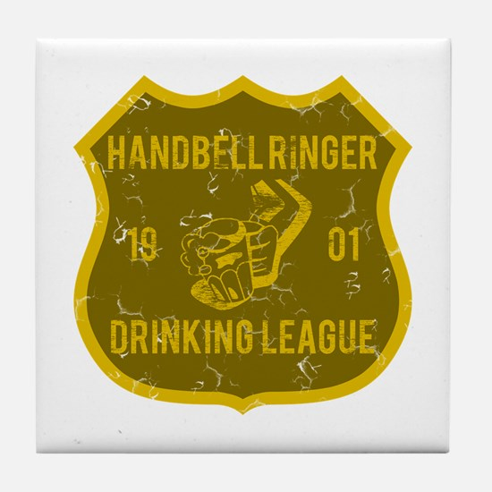 Handbell Ringer Drinking League Tile Coaster