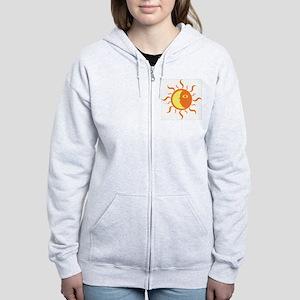 Sun/Moon-Yin/Yang Women's Zip Hoodie