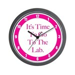 Time To Go To The Lab Wall Clock