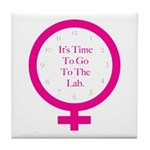 Time To Go To The Lab Tile Coaster