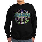Retro Peace Sign Imagine Sweatshirt (dark)