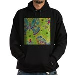 Vintage Distressed Butterfly Garden Hoodie (dark)