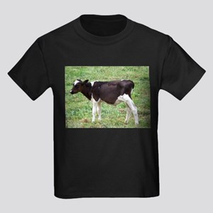 holstein calf Kids Dark T-Shirt