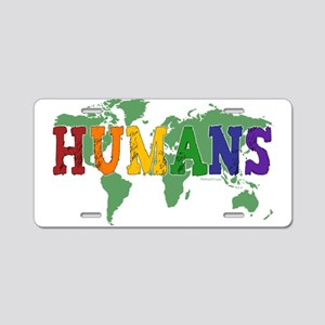 Humans Gay Aluminum License Plate