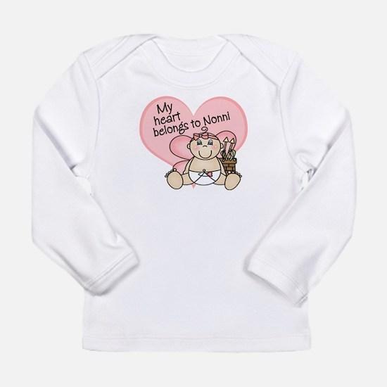 valentine heart belongs to nonni Long Sleeve T-Shi