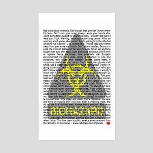 Biohazard Warning Rectangle Sticker