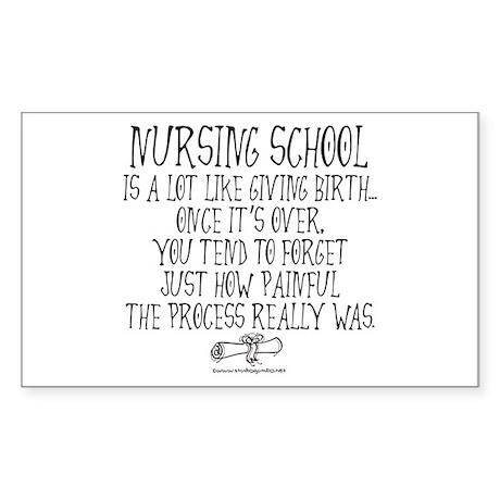 Nursing School like Birth Rectangle Sticker