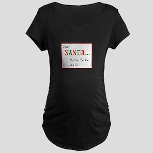 DEAR SANTA TWINS DESIGN Maternity Dark T-Shirt