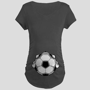 Soccer Baby Maternity Dark T-Shirt