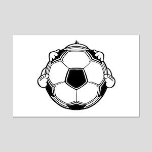 Soccer Baby Mini Poster Print