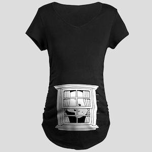 Bedwomb Window Maternity Dark T-Shirt