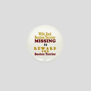 Wife & Boston Terrier Missing Mini Button