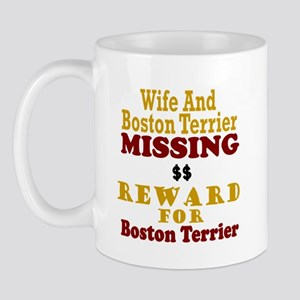 Wife & Boston Terrier Missing Mug