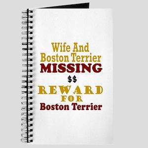 Wife & Boston Terrier Missing Journal