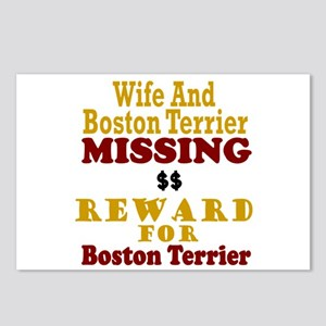 Wife & Boston Terrier Missing Postcards (Package o
