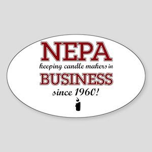 Funny Nepa designs Oval Sticker