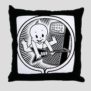 Rocker Inside Throw Pillow