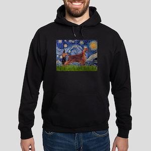Starry Night Irish Setter Hoodie (dark)