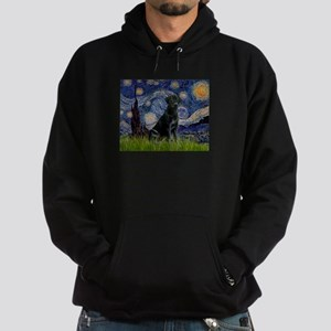 Starry Night Black Lab Hoodie (dark)