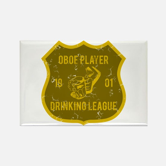 Oboe Player Drinking League Rectangle Magnet