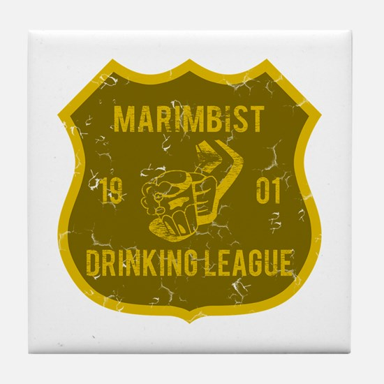 Marimbist Drinking League Tile Coaster