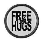 Free Hugs Large Wall Clock