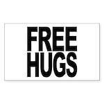 Free Hugs Rectangle Sticker 10 pk)