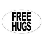 Free Hugs Oval Sticker (50 pk)
