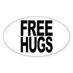 Free Hugs Oval Sticker (10 pk)