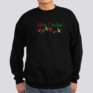 Merry Christmas Lights Sweatshirt (dark)