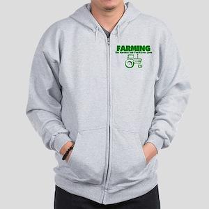 Farming Hardest Job You'll Ever Love Zip Hoodie