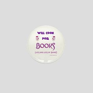 Will Cook For Books Mini Button