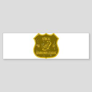 Sikh Drinking League Bumper Sticker