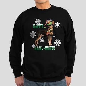 Holiday Min Pin Sweatshirt (dark)
