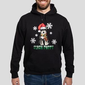 Holiday Miniature Schnauzer Hoodie (dark)
