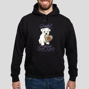 Westie Mom Hoodie (dark)