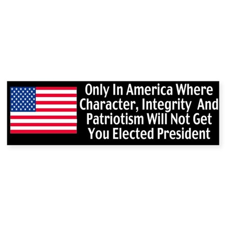 Character & Integrity Bumper Sticker