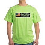 Character & Integrity Green T-Shirt
