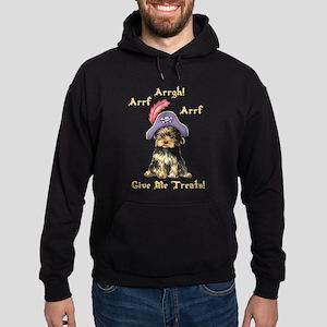 Yorkie Pirate Hoodie (dark)