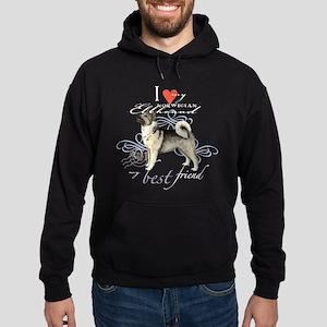 Norwegian Elkhound Hoodie (dark)