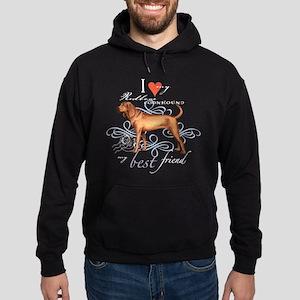 Redbone Coonhound Hoodie (dark)